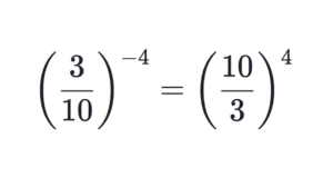 How to get rid negative exponents