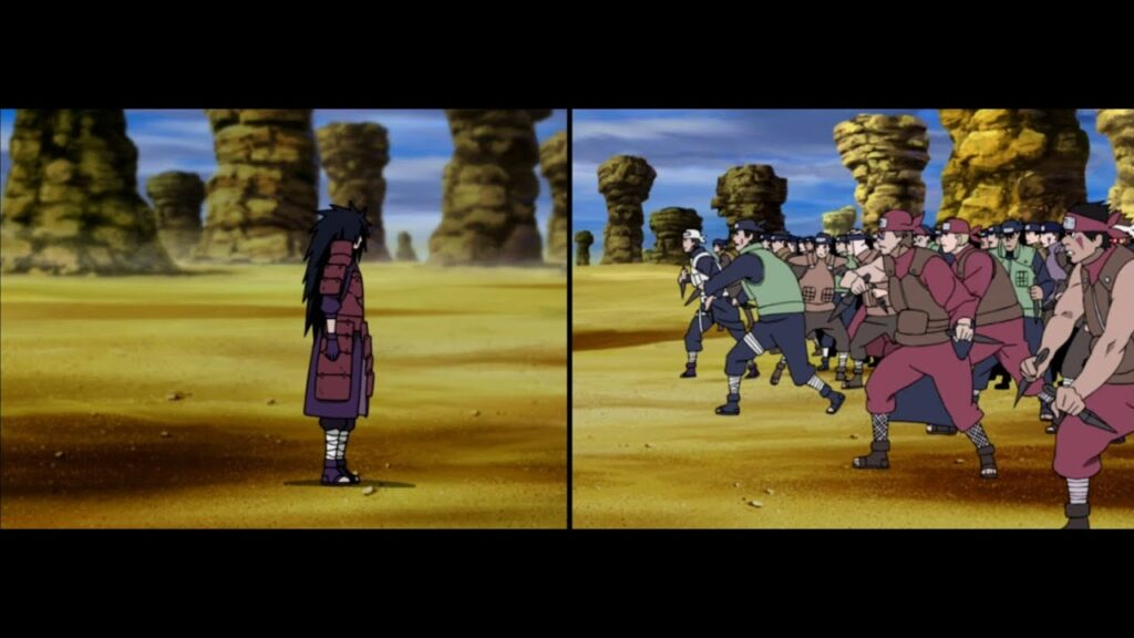 madara vs Shinobi Allience