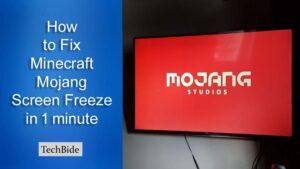 How to Fix Minecraft Mojang Screen Freeze