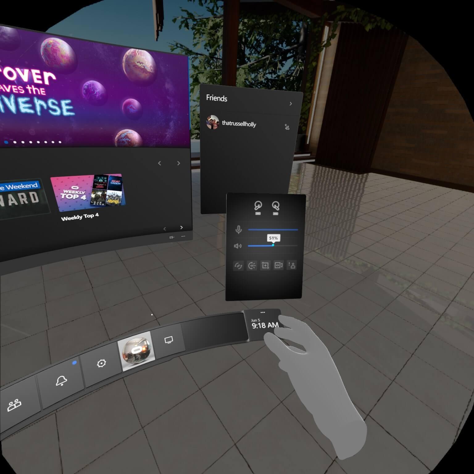 Oculus Rift S vlack screen