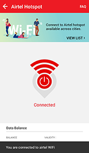 airtel wifi pack