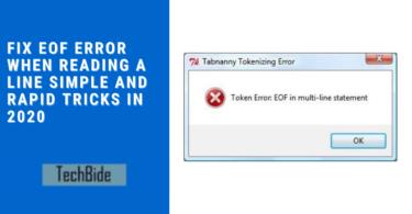 EOF error