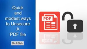 how to Unsecure a PDF file
