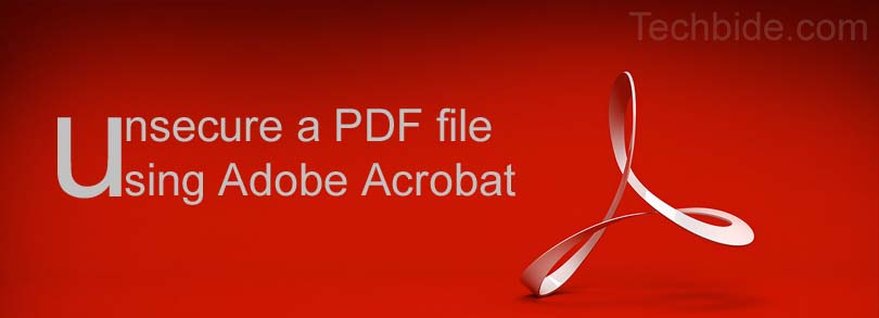 Unsecure a PDF file