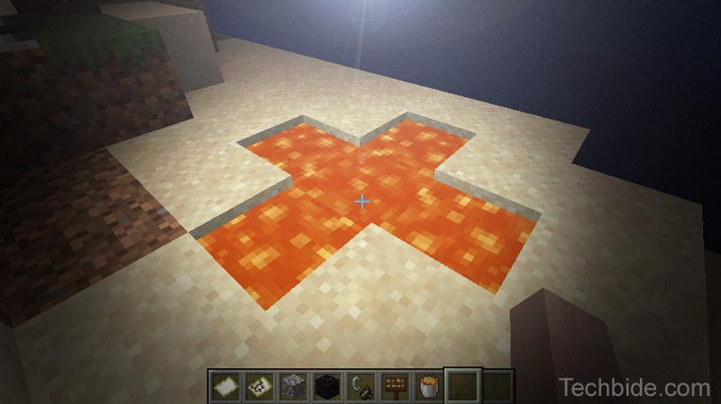Minecraft Infinite Lava Source