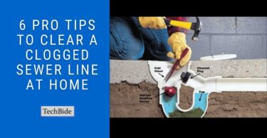 How to clear a clogged sewer line