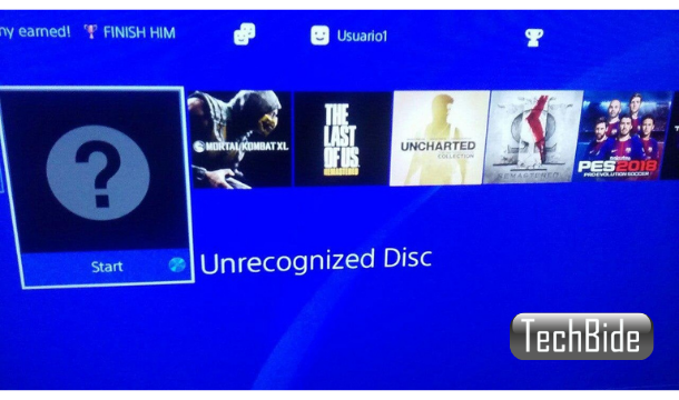 ps4 unrecognized disc