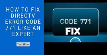 Directv Error Code 771