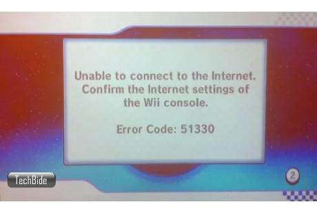Error code 51330 Wii