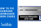 samsung dishwasher error codes