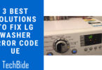 LG Washer Error Code UE