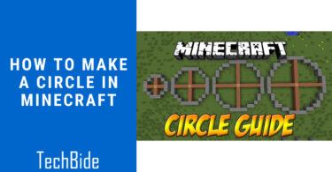 How to make a Circle in Minecraft?