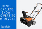 Best Cordless Snow Blowers to buy in 2021