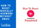 How to Reset Musically Password without Email